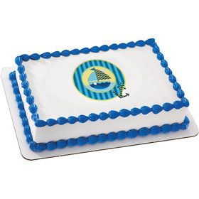 Nautical Sail Boat Quarter Sheet Edible Cake Topper (Each)