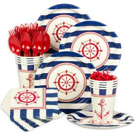 Nautical Standard Party Tableware Kit (Serves 8)