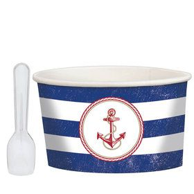 Nautical Treat Cups with Spoons (8 Count)