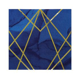 Navy Geode Lunch Napkins (16)