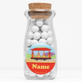 "Neighborhood Tiger Personalized 4"" Glass Milk Jars (Set of 12)"
