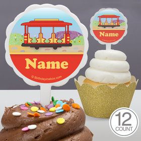 Neighborhood Tiger Personalized Cupcake Picks (12 Count)