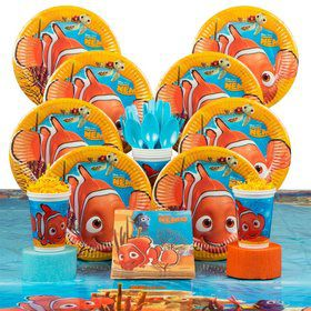 Nemo Birthday Party Deluxe Tableware Kit Serves 8