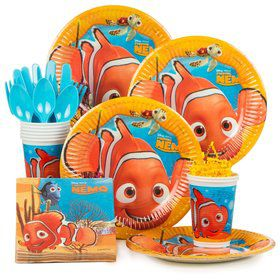 Nemo Birthday Party Standard Tableware Kit Serves 8