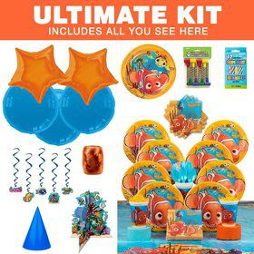 Nemo Birthday Party Ultimate Tableware Kit Serves 8