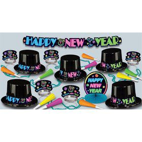 Neon Bash New Year's Party Kit (For 10 People)