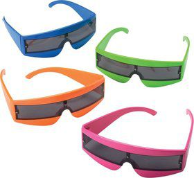 Neon Funky Plastic Glasses (Each)