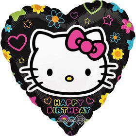 "Neon Hello Kitty Foil 18"" Balloon (Each)"