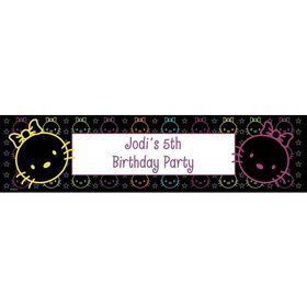 Neon Kitty Personalized Banner (Each)