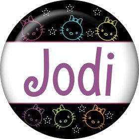 Neon Kitty Personalized Mini Button (Each)