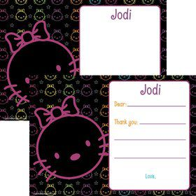 Neon Kitty Personalized Thank You Note (Each)