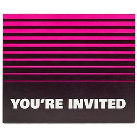 Neon Multicolor Invitations (8)