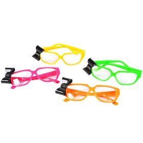Neon Nerd Glasses with Bow One size