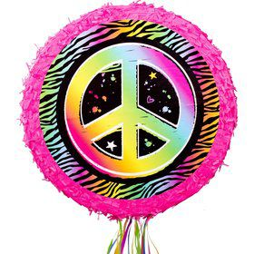 Neon Peace Sign Pinata (Each)