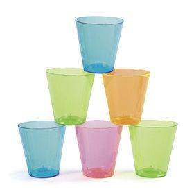Neon Plastic 2oz Shot Glasses (40 Count)