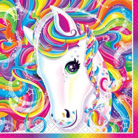 Neon Pony Lisa Frank Beverage Napkins (16 Pack)