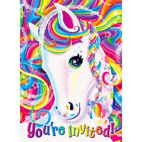 Neon Pony Lisa Frank Invitations (8 Pack)
