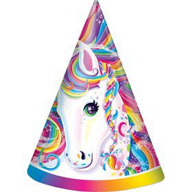 Neon Pony Lisa Frank Party Hats (8 Pack)