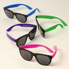 "Neon Rubber 6"" Sunglasses (12 Pack)"