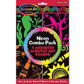 Neon Scratch Art Combo Pack