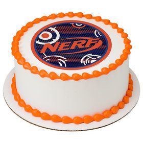 "Nerf Blast 7.5"" Round Edible Cake Topper (Each)"