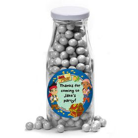 Never Land Pirates Personalized Glass Milk Bottles (12 Count)