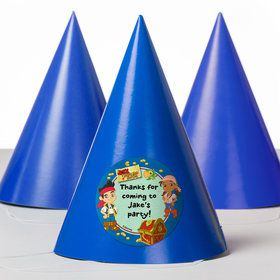 Never Land Pirates Personalized Party Hats (8 Count)