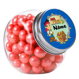 Never Land Pirates Personalized Plain Glass Jars (12 Count)