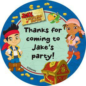 Never Land Pirates Personalized Stickers (Sheet Of 12)