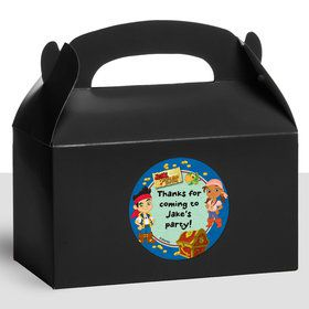 Never Land Pirates Personalized Treat Favor Boxes (12 Count)
