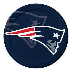 "New England Patriots 9"" Luncheon Plates (8 Count)"