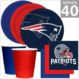New England Patriots NFL Party Supplies Deluxe Kit for 40