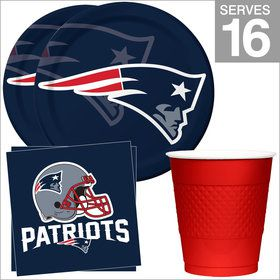 New England Patriots NFL Party Supplies Standard Kit for 16