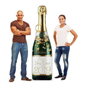 New Year Champagne Bottle Standup