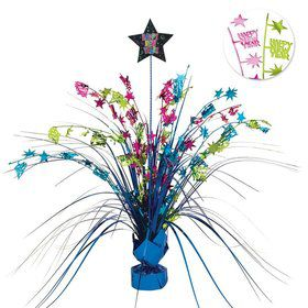 "New Year Jewel 15"" Foil Spray Centerpiece (Each)"