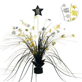 "New Year Metallic 15"" Foil Spray Centerpiece (Each)"