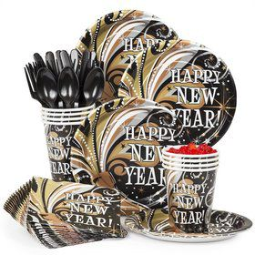 New Year's Burst Party Standard Tableware Kit Serves8