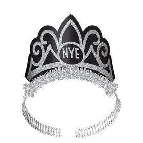 New Year's Eve Glitter & Foil Tiaras (6)