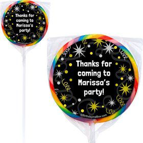 New Years Personalized Lollipops (12 Pack)