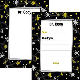 New Years Personalized Thank You Note (Each)