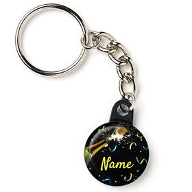 "New Years Pop Personalized 1"" Mini Key Chain (Each)"