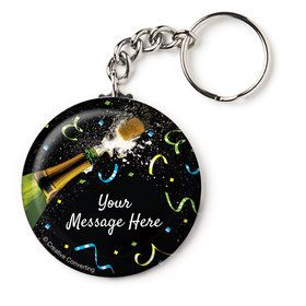 "New Years Pop Personalized 2.25"" Key Chain (Each)"