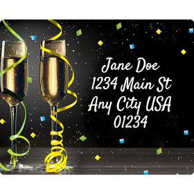 New Years Pop Personalized Address Labels (Sheet of 15)