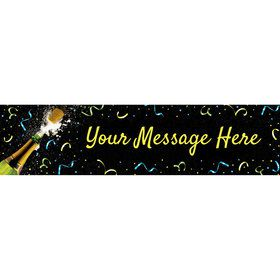 New Years Pop Personalized Banner (Each)