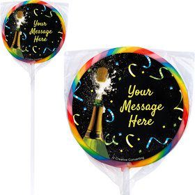 New Years Pop Personalized Lollipops (12 Pack)