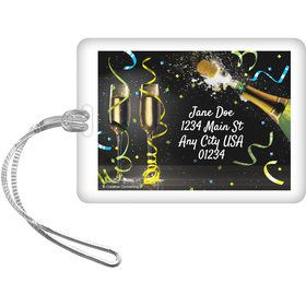 New Years Pop Personalized Luggage Tag (Each)