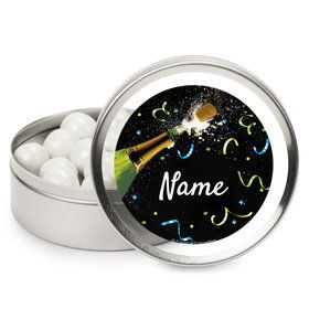 New Years Pop Personalized Mint Tins (12 Pack)