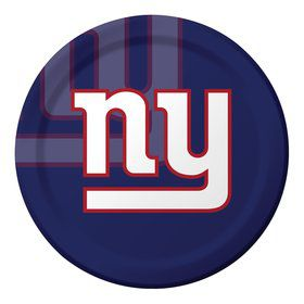 "New York Giants 9"" Luncheon Plates (8 Count)"