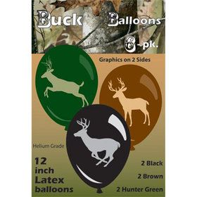 "Next Camo 12"" Latex Balloons (6 Pack)"