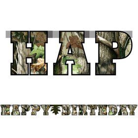Next Camo Banner-Happy Birthday (Each)